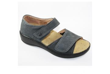 Benexa 4986 sandalo donna predisposto antracite con tallone chiuso