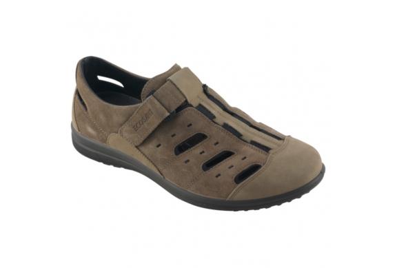 Ecosanit Mod. Moncalieri Vesuvio scarpa da uomo con fori plantare estraibile inserti elastici