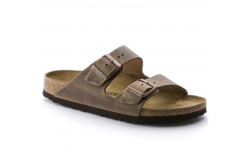 Birkenstock sandalo uomo e unisex Arizona BS doppia fascia oiled leather tobacco pelle oliata tabacco