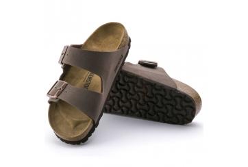 Birkenstock sandalo uomo e unisex Arizona BS Birko Flor Nabuk doppia fascia mocca Art. 0151183