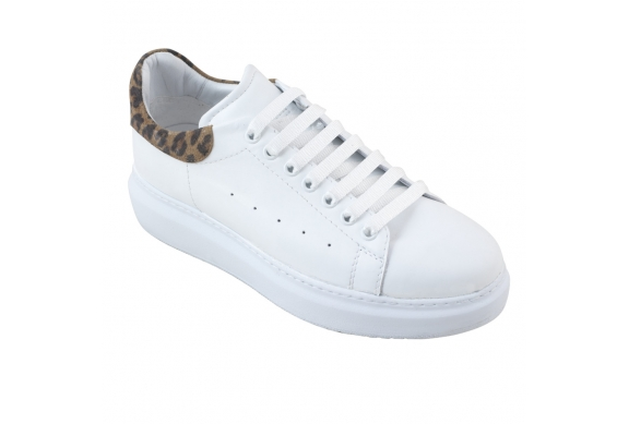 Ecosanit Mod. Fellon sneaker pelle bianco