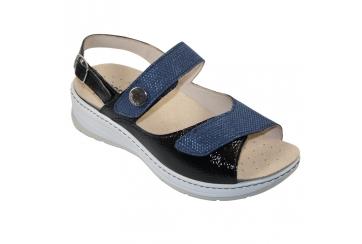 Ecosanit Blanco sandalo donna predisposto blu o antracite