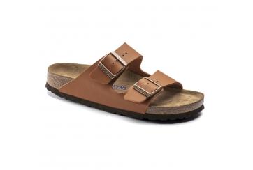 Birkenstock Arizona Soft footbed sandalo unisex Birko Flor doppia fascia ginger brown Art. 1019119
