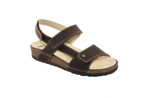 Hergos Mod. H097 sandalo donna giovane regolabile velcro plantare estraibile sostenitivo ondulato