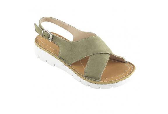 Ecosanit Mod. Oregon sandalo donna giovane plantare morbido