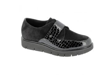 Hergos H9703 scarpa donna ortopedica comoda elegante plantare estraibile nera