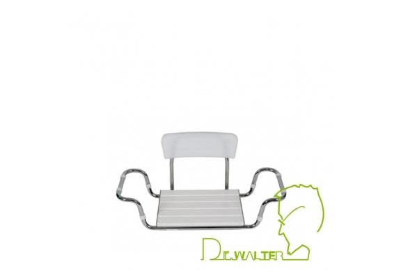 Sedile regolabile per vasca con schienale